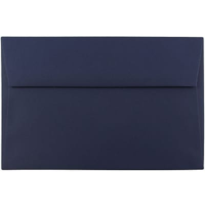 JAM Paper® A9 Invitation Envelopes, 5.75 x 8.75, Navy Blue, 50/pack (LEBA792I)