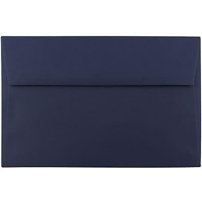 JAM Paper® A9 Invitation Envelopes, 5.75 x 8.75, Navy Blue, 1000/carton (LEBA792B)
