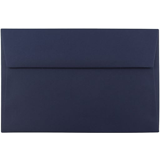 JAM Paper® A9 Invitation Envelopes, 5.75 x 8.75, Navy Blue, 25/Pack (LEBA792)
