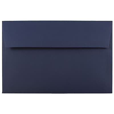 JAM Paper® A10 Invitation Envelopes, 6 x 9.5, Navy Blue, 250/box (LEBA867H)