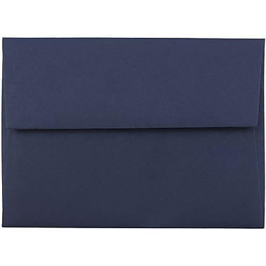JAM Paper® 4bar A1 Envelopes, 3 5/8 x 5 1/8, Navy Blue, 1000/carton (LEBA917B)