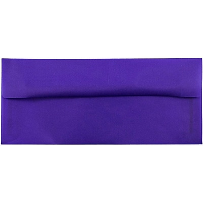 JAM Paper® #10 Business Envelopes, 4 1/8 x 9 1/2, Purple Translucent Vellum, 50/pack (PACV357I)