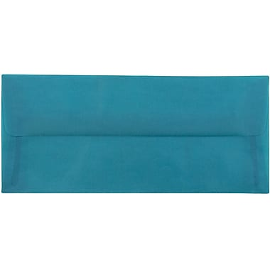 JAM Paper® #10 Business Envelopes, 4 1/8 x 9 1/2, Aqua Blue Translucent Vellum, 25/pack (PACV364A)