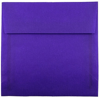 JAM Paper® 6 x 6 Square Envelopes, Purple Translucent Vellum, 25/pack (PACV517)