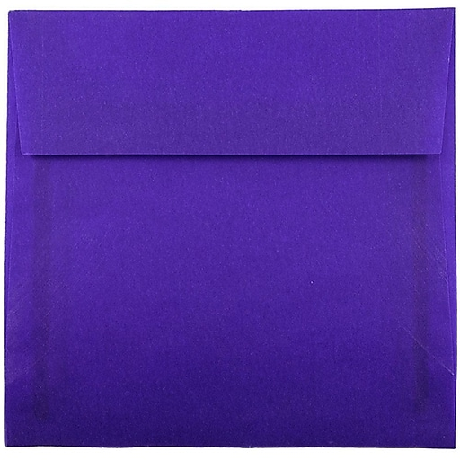 JAM Paper® 6 x 6 Square Translucent Vellum Invitation Envelopes, Primary Blue, 25/Pack (PACV517)