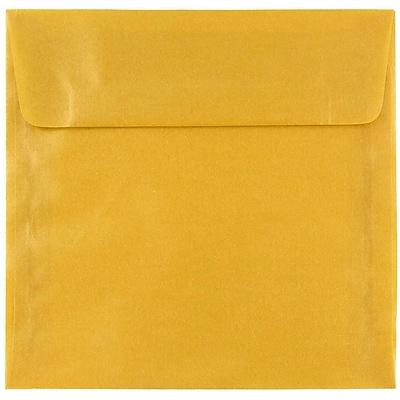 JAM Paper® 6 x 6 Square Envelopes, Gold Translucent Vellum, 250/box (PACV577H)