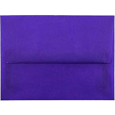 JAM Paper® A2 Invitation Envelopes, 4 3/8 x 5 3/4, Purple Translucent Vellum, 25/pack (PACV607)