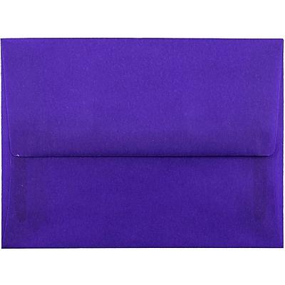 JAM Paper® A6 Invitation Envelopes, 4.75 x 6.5, Purple Translucent Vellum, 250/box (PACV657H)