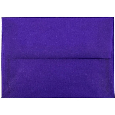 JAM Paper® A7 Invitation Envelopes, 5.25 x 7.25, Purple Translucent Vellum, 25/pack (PACV707)