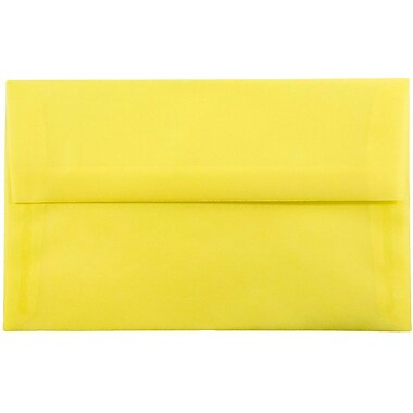 JAM Paper® A10 Invitation Envelopes, 6 x 9.5, Yellow Translucent Vellum, 25/pack (PACV856)