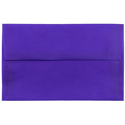 JAM Paper® A10 Invitation Envelopes, 6 x 9.5, Purple Translucent Vellum, 25/pack (PACV857)