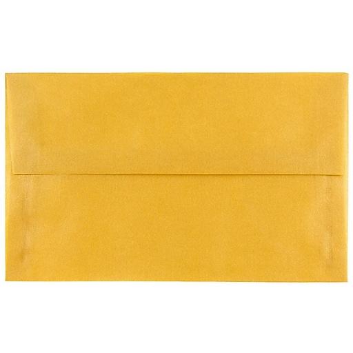 JAM Paper® A10 Translucent Vellum Invitation Envelopes, 6 x 9.5, Gold, Bulk 250/Box (PACV867H)