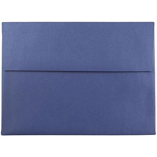 JAM Paper® A7 Metallic Invitation Envelopes, 5.25 x 7.25, Stardream Sapphire Blue, Bulk 250/Box (SD5380 16H)