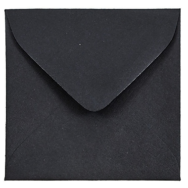 JAM Paper® 3.125 x 3.125 Mini Square Envelopes, Black Linen Recycled, 100/pack (V01200A)
