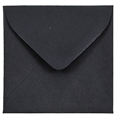 JAM Paper® 3.125 x 3.125 Mini Square Envelopes, Black Linen Recycled, 25/pack (V01200)
