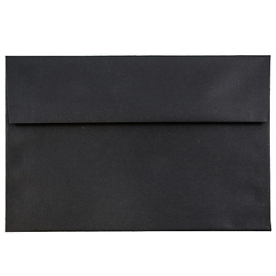 JAM Paper® A7 Invitation Envelopes, 5.25 x 7.25, Black Linen Recycled, 25/pack (V01205)