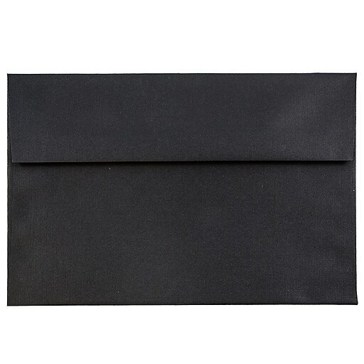 JAM Paper® A7 Invitation Envelopes, 5.25 x 7.25, Black Linen, 50/Pack (V01205I)