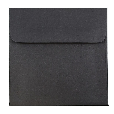 JAM Paper® 5 x 5 Square Envelopes, Black Linen Recycled, 1000/carton (V01209B)
