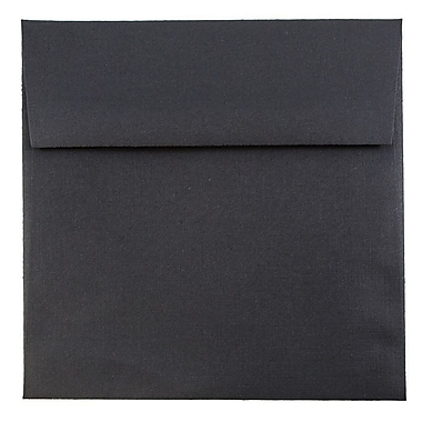 JAM Paper® 5.5 x 5.5 Square Envelopes, Black Linen Recycled, 1000/carton (V01210B)