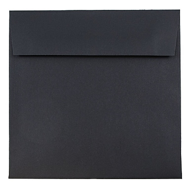 JAM Paper® 6.5 x 6.5 Square Envelopes, Black Linen Recycled, 25/pack (V01211)