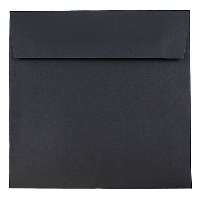 JAM Paper® 6.5 x 6.5 Square Envelopes, Black Linen Recycled , 250/box (V01211H)