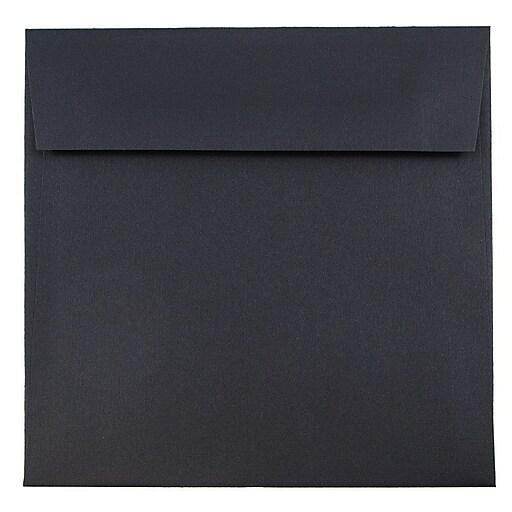 JAM Paper® 6.5 x 6.5 Square Invitation Envelopes, Black Linen, 50/Pack (V01211I)