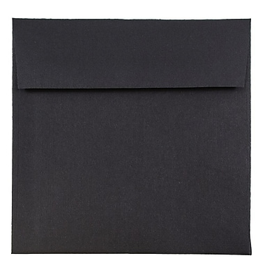 JAM Paper® 6 x 6 Square Envelopes, Black Linen Recycled, 1000/carton (V01212B)