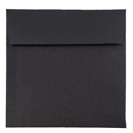 JAM Paper® 6 x 6 Square Invitation Envelopes, Black Linen, Bulk 250/Box (V01212H)
