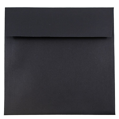 JAM Paper® 7.5 x 7.5 Square Envelopes, Black Linen Recycled, 25/pack (V01213)