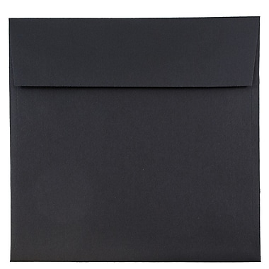 JAM Paper® 9 x 9 Square Envelopes, Black Linen Recycled, 250/box (V01215H)