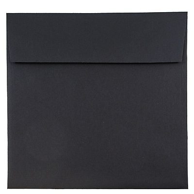 JAM Paper® 9 x 9 Square Envelopes, Black Linen Recycled, 50/pack (V01215I)