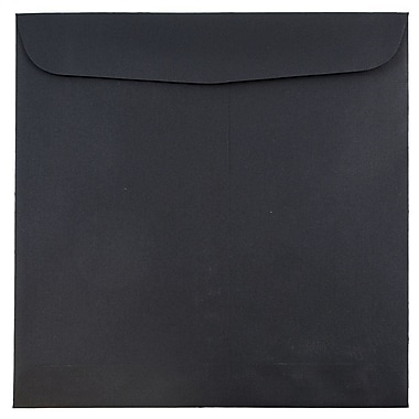JAM Paper® 9.5 x 9.5 Square Envelopes, Black Linen Recycled, 1000/carton (V01216B)