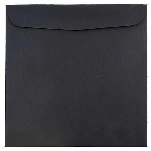 JAM Paper® 9.5 x 9.5 Square Invitation Envelopes, Black Linen, Bulk 250/Box (V01216H)