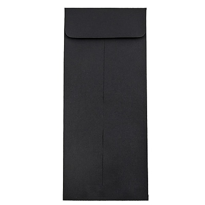 JAM Paper® #11 Policy Envelopes, 4 1/2 x 10 3/8, Black Linen Recycled, 50/pack (V01219I)