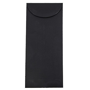 JAM Paper® #12 Policy Envelopes, 4.75 x 11, Black Linen Recycled, 500/box (V01220H)
