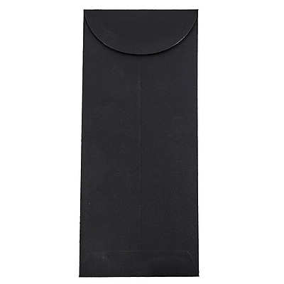 JAM Paper® #12 Policy Envelopes, 4.75 x 11, Black Linen Recycled, 1000/carton (V01220B)