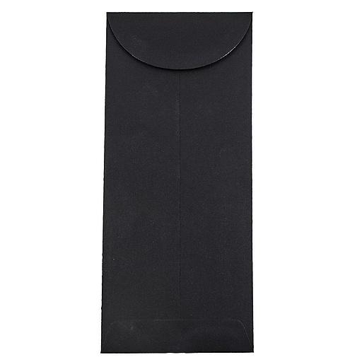 JAM Paper® #12 Policy Business Envelopes, 4.75 x 11, Black Linen, 25/Pack (V01220)