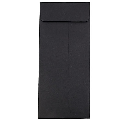 JAM Paper® #14 Policy Envelopes, 5 x 11.5, Black Linen Recycled, 50/pack (V01221I)