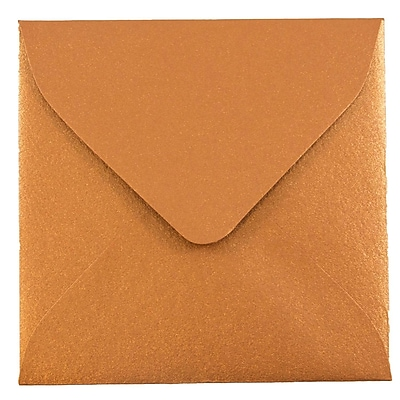 JAM Paper® 3.125 x 3.125 Mini Square Envelopes, Stardream Metallic Copper, 25/pack (V018242)
