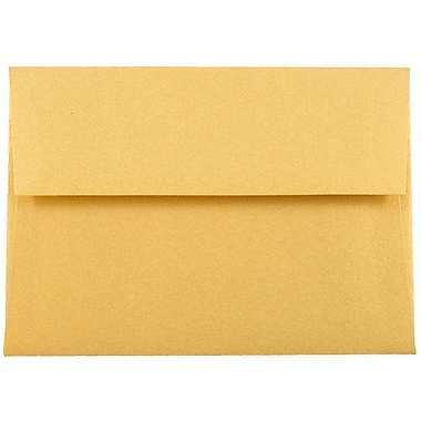 JAM Paper® 4bar A1 Envelopes, 3 5/8 x 5 1/8, Stardream Metallic Gold, 50/pack (V018244I)