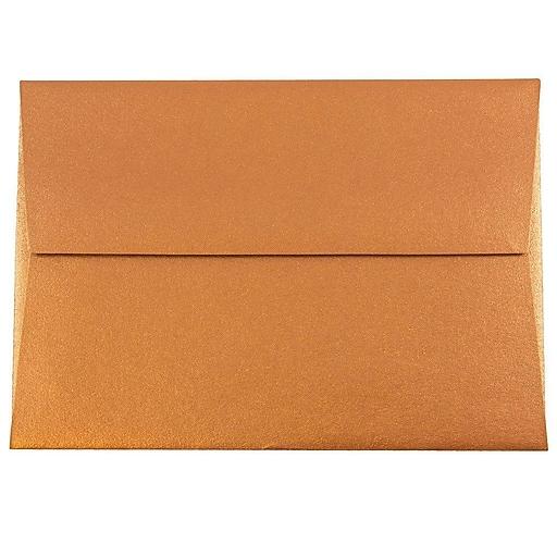 JAM Paper® 4Bar A1 Metallic Invitation Envelopes, 3.625 x 5.125, Stardream Copper, Bulk 250/Box (V018246H)