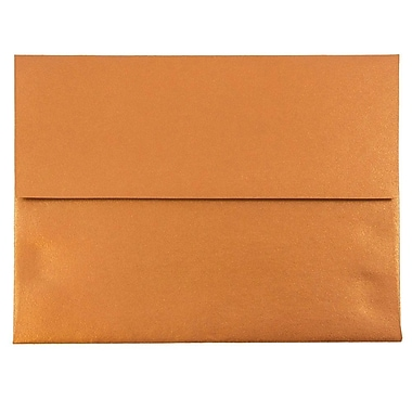 JAM Paper® A2 Invitation Envelopes, 4 3/8 x 5 3/4, Stardream Metallic Copper, 25/pack (V018251)