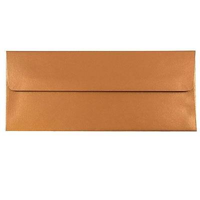 JAM Paper® #10 Business Envelopes, 4 1/8 x 9 1/2, Stardream Metallic Copper, 25/pack (V018284)