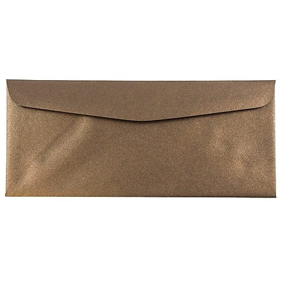 JAM Paper® #10 Business Envelopes, 4 1/8 x 9 1/2, Stardream Metallic Bronze, 500/box (V018286H)