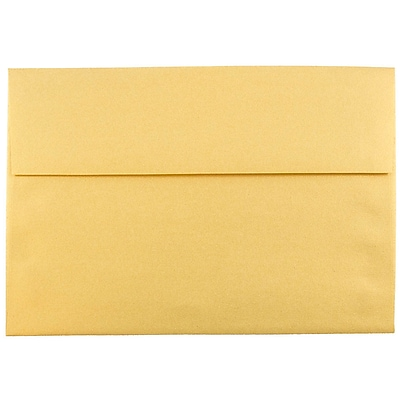 JAM Paper® A8 Invitation Envelopes, 5.5 x 8.125, Stardream Metallic Gold, 50/pack (V018295I)