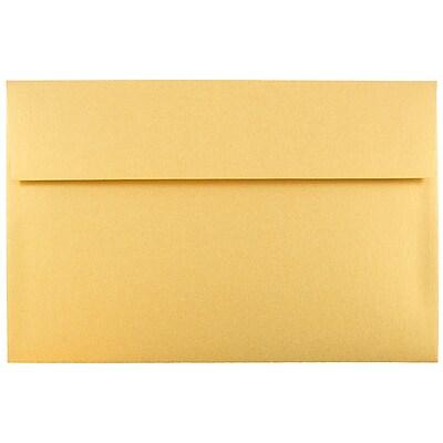JAM Paper® A10 Invitation Envelopes, 6 x 9.5, Stardream Metallic Gold, 25/pack (V018299)