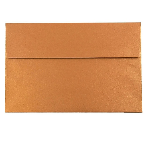 JAM Paper® A10 Metallic Invitation Envelopes, 6 x 9.5, Stardream Copper, 50/Pack (V018301I)