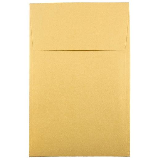 JAM Paper® A10 Policy Metallic Invitation Envelopes, 6 x 9.5, Stardream Gold, 25/Pack (V018304)