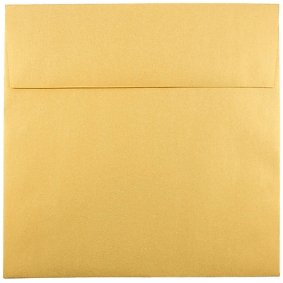 JAM Paper® 8.5 x 8.5 Square Envelopes, Stardream Metallic Gold, 250/box (V018319H)
