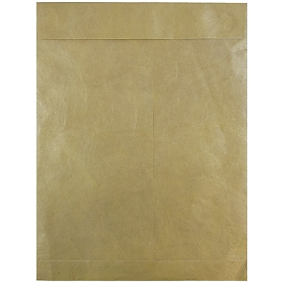 JAM Paper® 10 x 13 Tyvek Envelopes, Catalog Open End with Self Adhesive Closure, Gold, 10/pack (V021378B)
